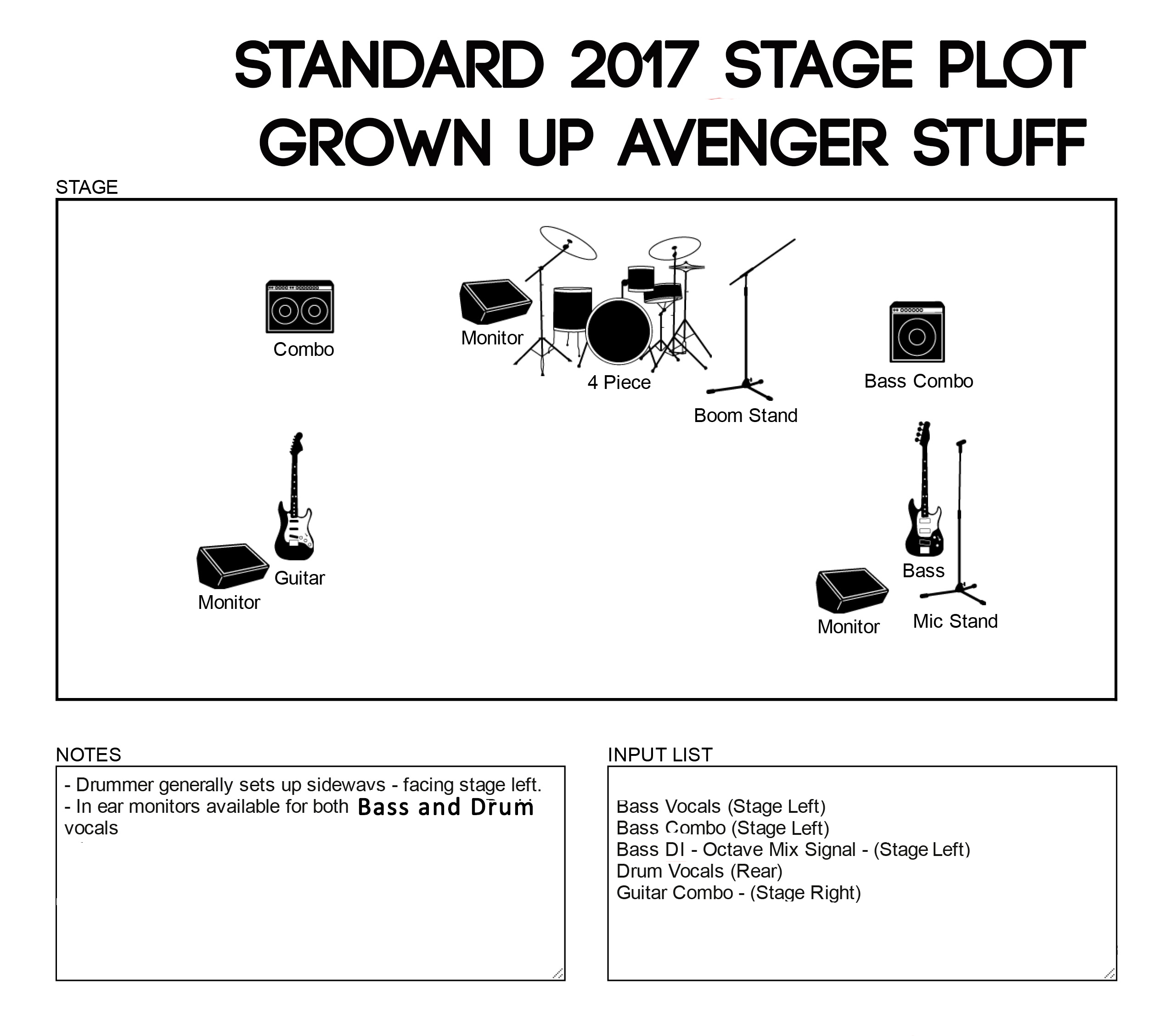 Grown up avenger stuff stage plot for Stage plot template