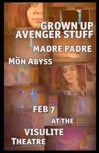 Grown Up Avenger Stuff - Feb 7 at the Visulite